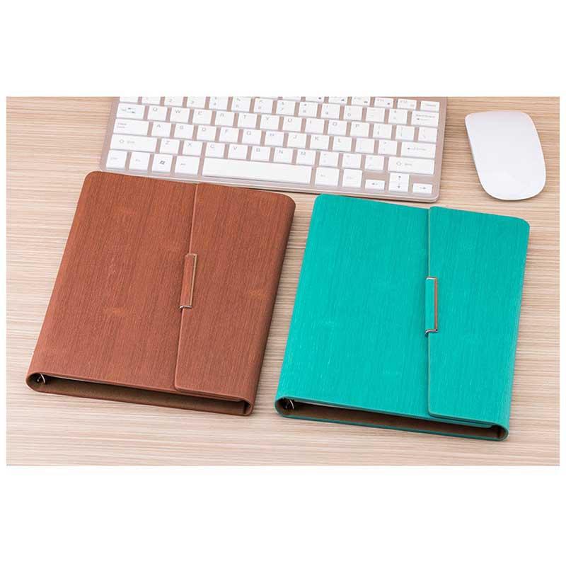 Cuaderno-de-Hojas-Sueltas-A5-PapeleriA-Cuaderno-de-Oficina-de-Negocios-de-Cuero miniatura 6