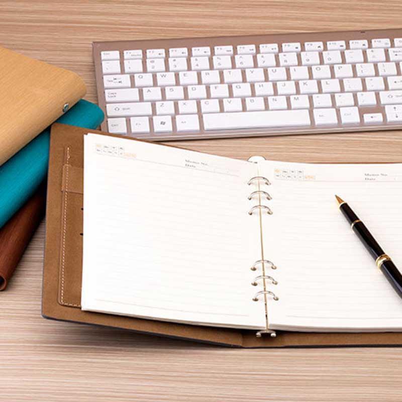 Cuaderno-de-Hojas-Sueltas-A5-PapeleriA-Cuaderno-de-Oficina-de-Negocios-de-Cuero miniatura 19