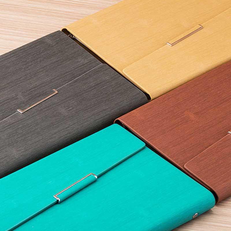 Cuaderno-de-Hojas-Sueltas-A5-PapeleriA-Cuaderno-de-Oficina-de-Negocios-de-Cuero miniatura 26