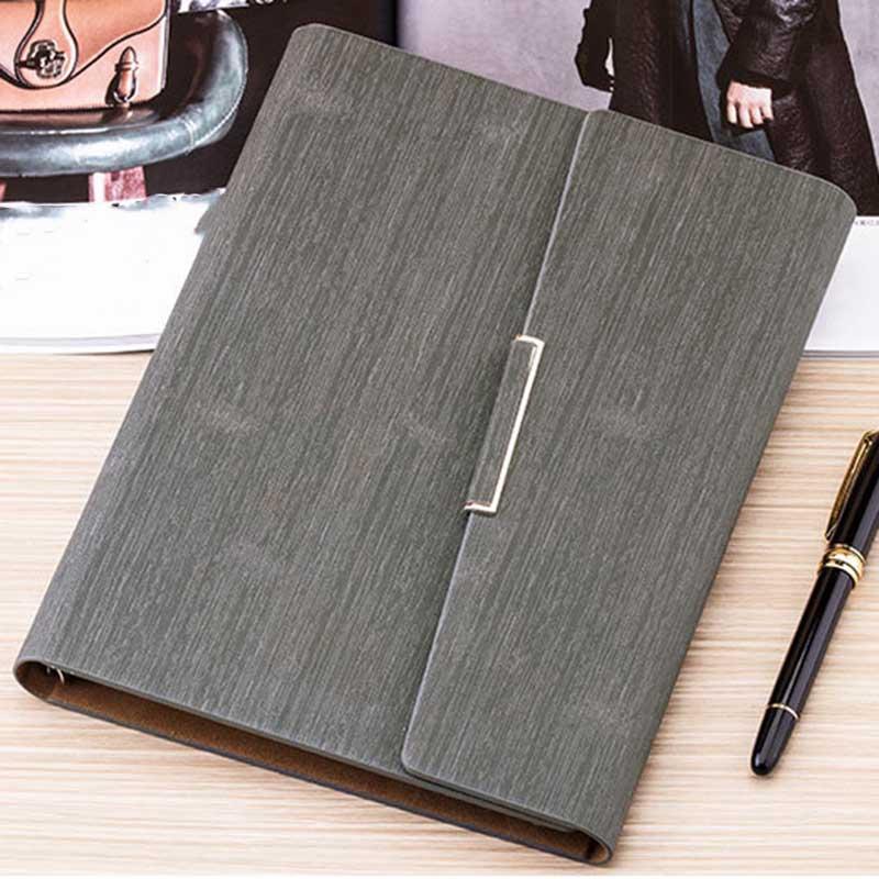Cuaderno-de-Hojas-Sueltas-A5-PapeleriA-Cuaderno-de-Oficina-de-Negocios-de-Cuero miniatura 34