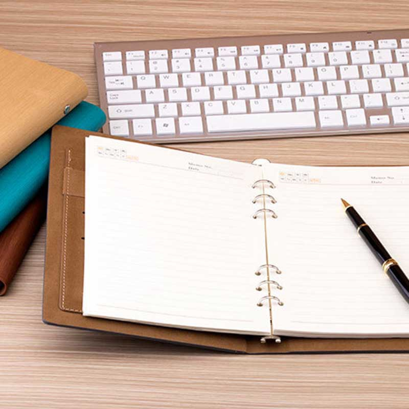 Cuaderno-de-Hojas-Sueltas-A5-PapeleriA-Cuaderno-de-Oficina-de-Negocios-de-Cuero miniatura 37