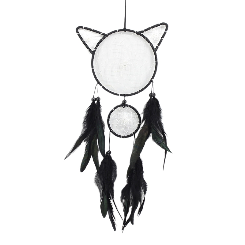 Cute-Cat-Shape-Dream-Catcher-Kit-Dream-Catcher-Hecho-una-Mano-Regalo-de-Nin-Y6X3 miniatura 3