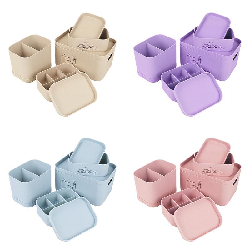 4-Unids-Set-Organizador-de-Maquillaje-para-CosmeTicos-Caja-de-Almacenamie-U9I5 miniatura 3