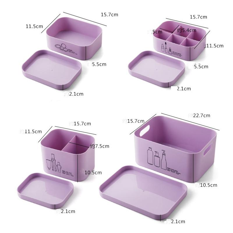 4-Unids-Set-Organizador-de-Maquillaje-para-CosmeTicos-Caja-de-Almacenamie-U9I5 miniatura 4