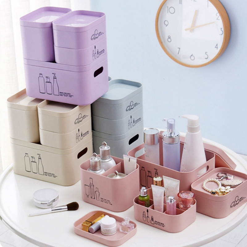 4-Unids-Set-Organizador-de-Maquillaje-para-CosmeTicos-Caja-de-Almacenamie-U9I5 miniatura 6