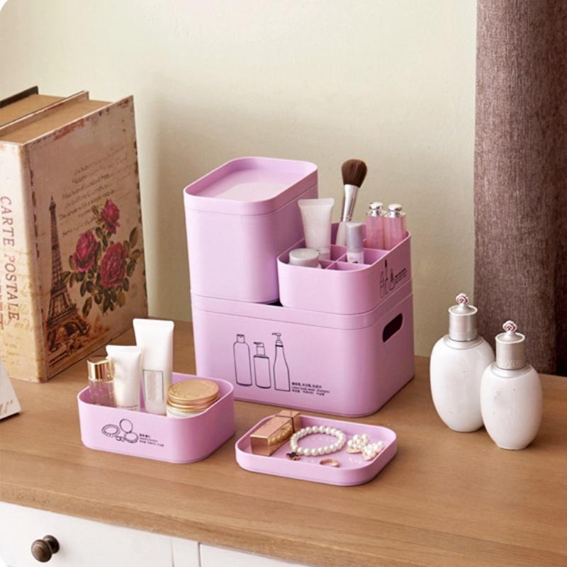 4-Unids-Set-Organizador-de-Maquillaje-para-CosmeTicos-Caja-de-Almacenamie-U9I5 miniatura 8