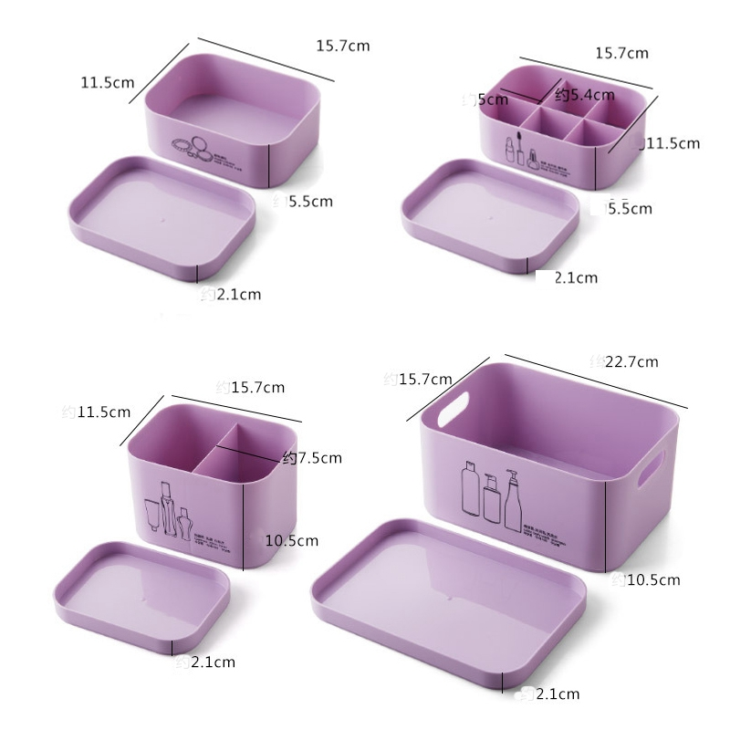 4-Unids-Set-Organizador-de-Maquillaje-para-CosmeTicos-Caja-de-Almacenamie-U9I5 miniatura 11