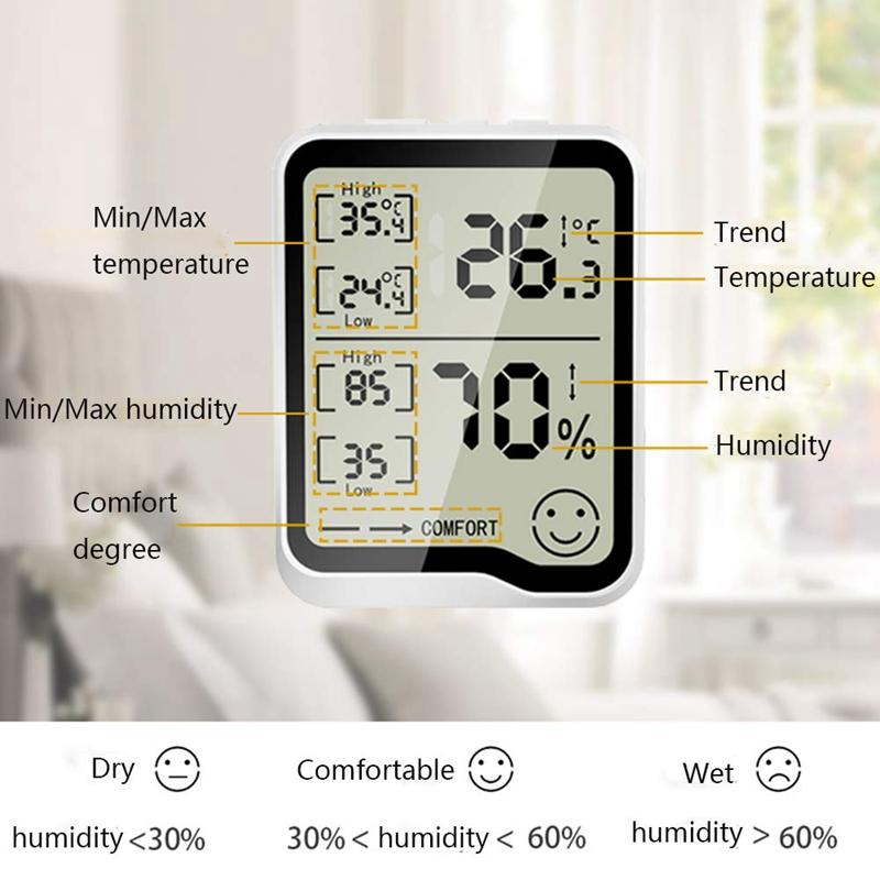 274417A1 2 - HigróMetro y TermóMetro Digital con Medidor de Humedad y Temperatura con Pan F1R