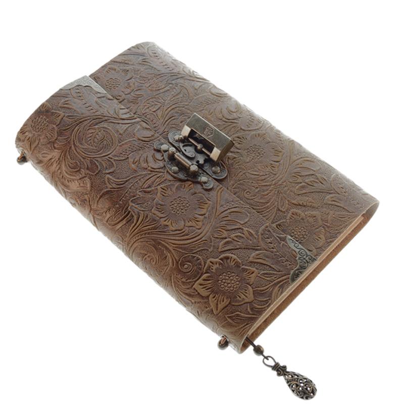 Cuaderno-de-Viaje-de-Cuero-Suave-con-PatroN-en-Relieve-con-Cerradura-y-Bloc-O6P6