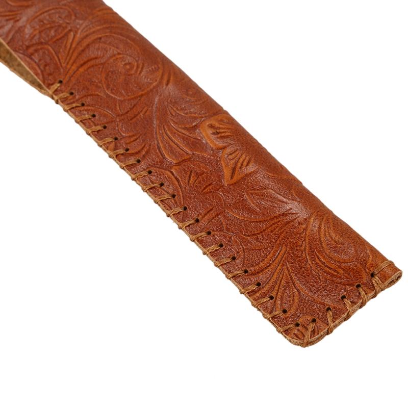 Vintage-Carving-Design-Genuine-Leather-Single-Pen-Case-Holder-for-Students-J2P6 thumbnail 9