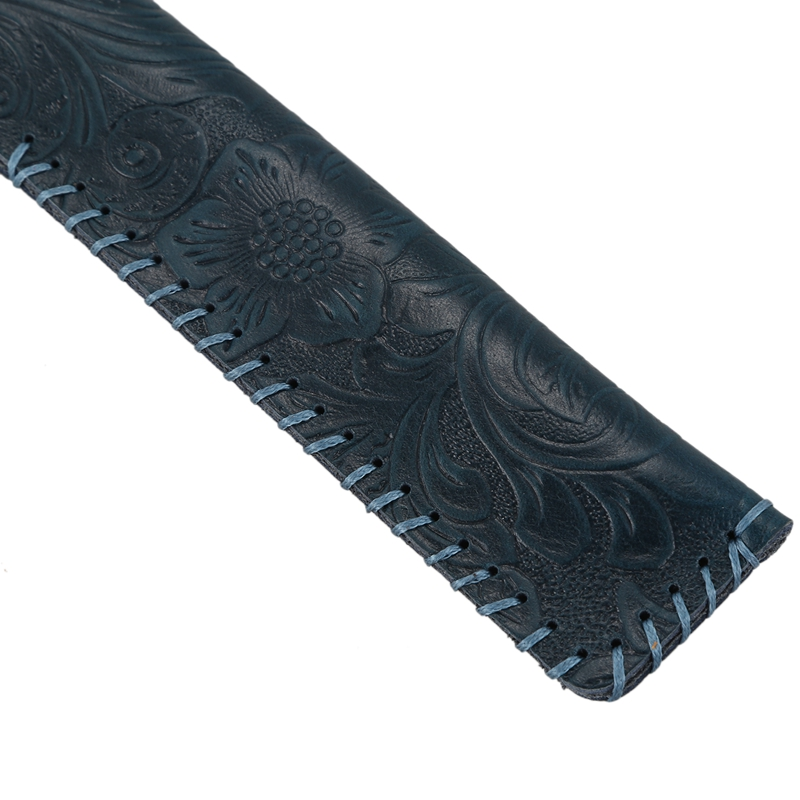 Vintage-Carving-Design-Genuine-Leather-Single-Pen-Case-Holder-for-Students-J2P6 thumbnail 27