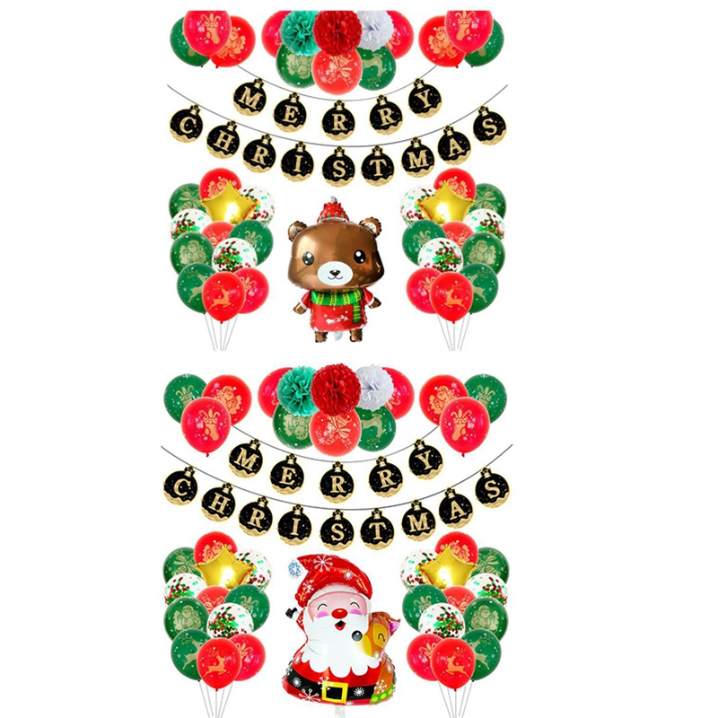 1X-1Set-Merry-Christmas-Letter-Banner-Party-Balloons-Decoration-Red-and-GreQ9K5 thumbnail 6