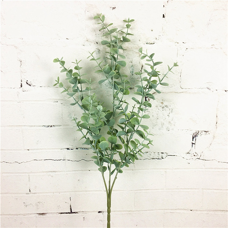 thumbnail 3 - 1X-6-Pcs-Eucalyptus-Plastic-Artificial-Leaves-Bunch-for-Home-Christmas-Wedd-S3F8