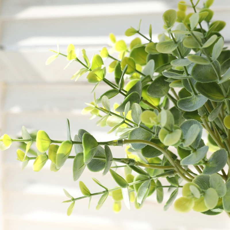 thumbnail 7 - 1X-6-Pcs-Eucalyptus-Plastic-Artificial-Leaves-Bunch-for-Home-Christmas-Wedd-S3F8