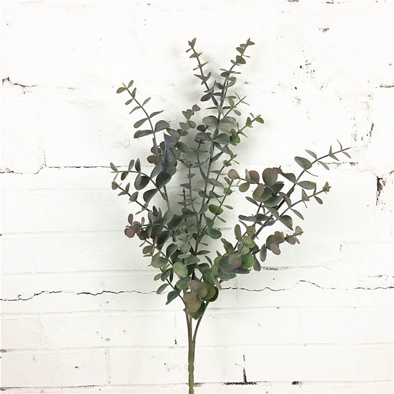 thumbnail 9 - 1X-6-Pcs-Eucalyptus-Plastic-Artificial-Leaves-Bunch-for-Home-Christmas-Wedd-S3F8