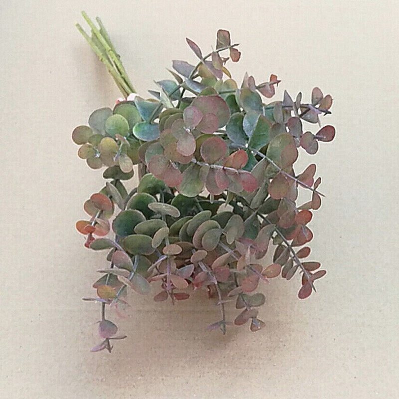 thumbnail 10 - 1X-6-Pcs-Eucalyptus-Plastic-Artificial-Leaves-Bunch-for-Home-Christmas-Wedd-S3F8