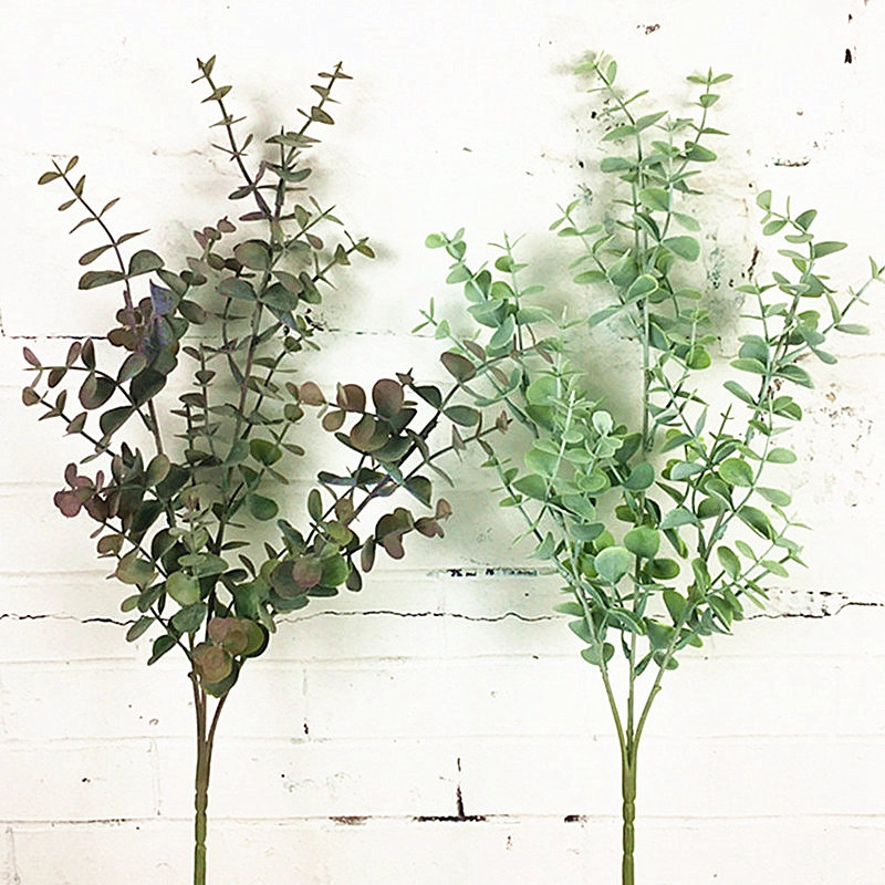 thumbnail 13 - 1X-6-Pcs-Eucalyptus-Plastic-Artificial-Leaves-Bunch-for-Home-Christmas-Wedd-S3F8