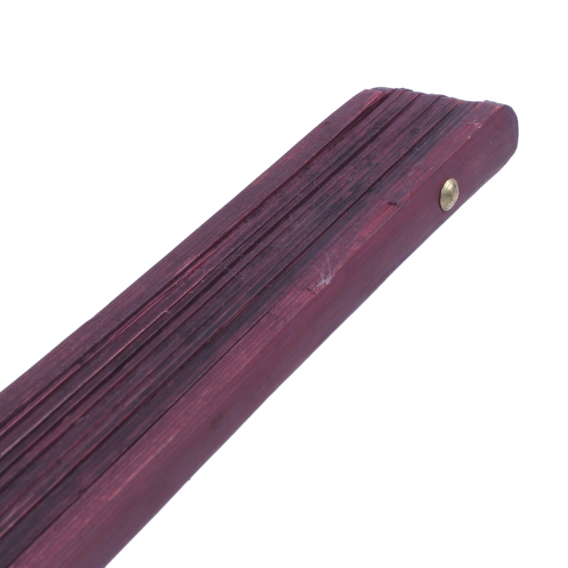 Men-Women-Wood-Handle-Fabric-Folding-Hand-Fan-13-inch-Length-Yellow-Q9K6 thumbnail 6