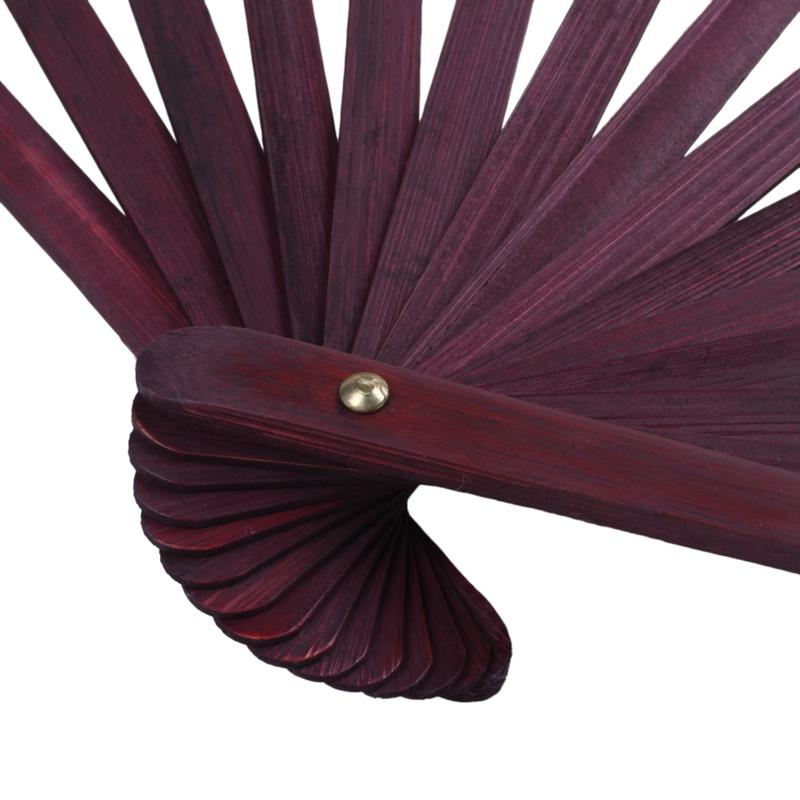 Men-Women-Wood-Handle-Fabric-Folding-Hand-Fan-13-inch-Length-Yellow-Q9K6 thumbnail 7