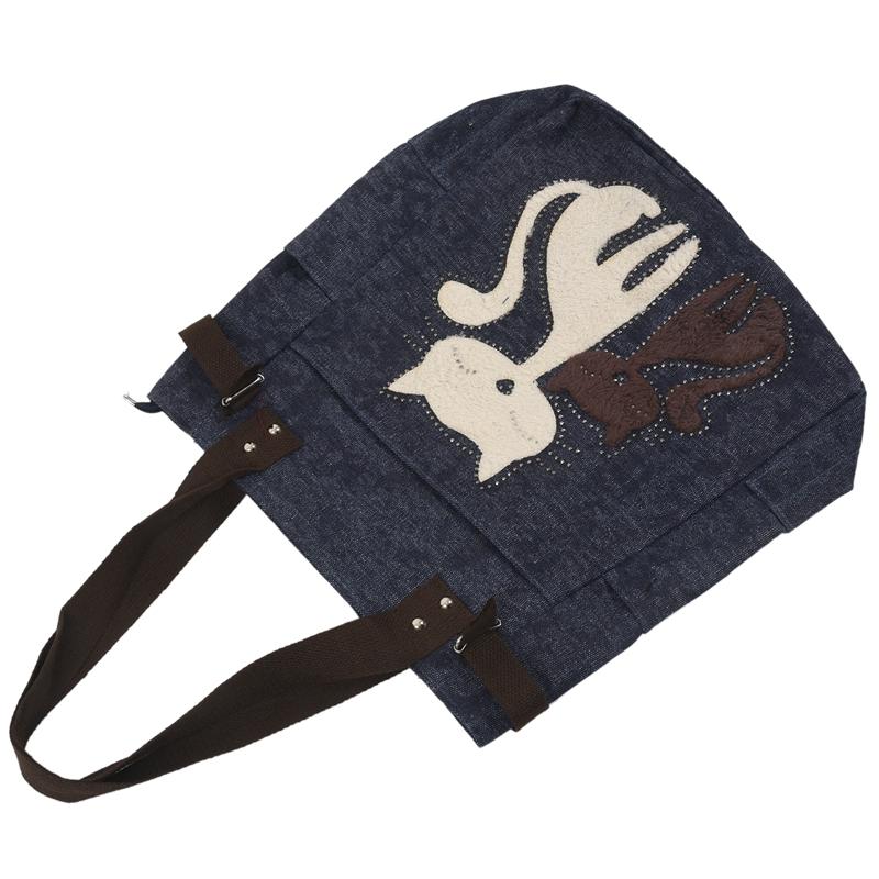 Kurierhandtasche-Tasche-mit-niedlichen-Katze-Frauen-kleinen-Einkaufs-Umhaen-Z9W7 Indexbild 8