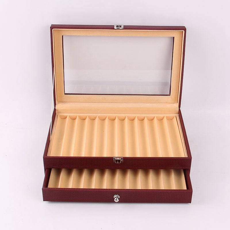 24-Stift-Brunnen-Holz-Vitrinenhalter-Holz-Stift-Aufbewahrungsbox-Collector-K8G3 Indexbild 20
