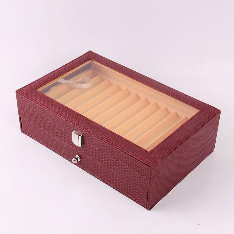 24-Stift-Brunnen-Holz-Vitrinenhalter-Holz-Stift-Aufbewahrungsbox-Collector-K8G3 Indexbild 33