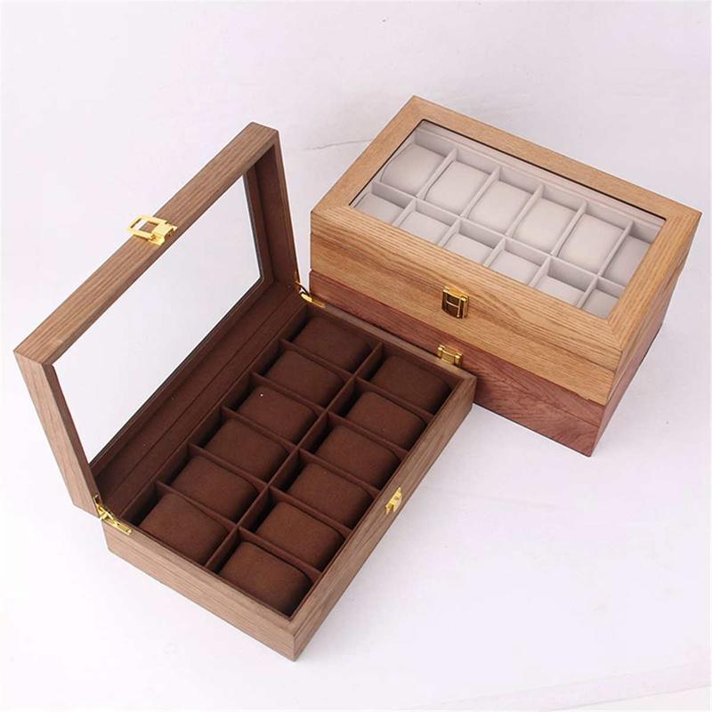 ReTro-Montre-en-Bois-Vitrine-D-039-Emballage-Durable-Titulaire-Collection-de-Bi-B4O6 miniature 4