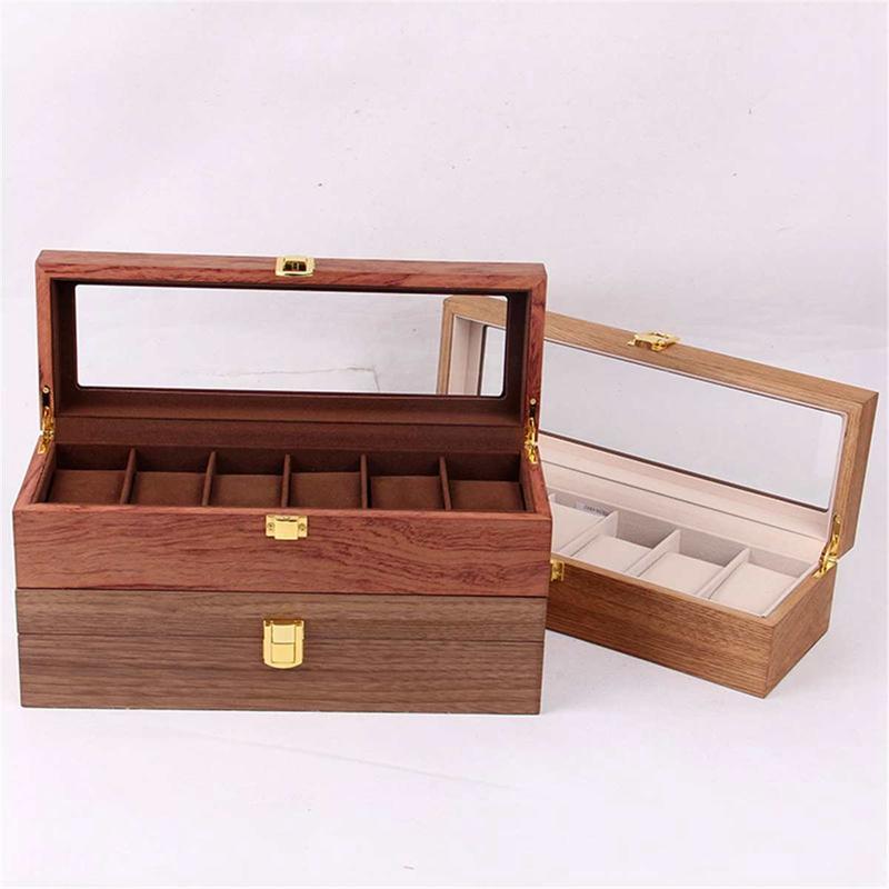 ReTro-Montre-en-Bois-Vitrine-D-039-Emballage-Durable-Titulaire-Collection-de-Bi-B4O6 miniature 5