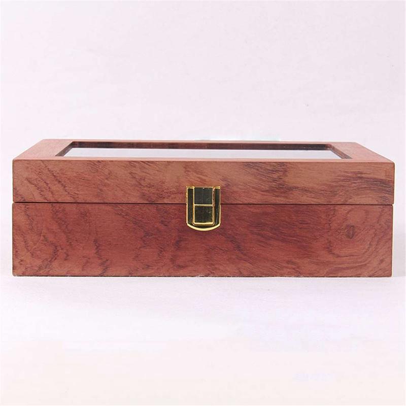 ReTro-Montre-en-Bois-Vitrine-D-039-Emballage-Durable-Titulaire-Collection-de-Bi-B4O6 miniature 7
