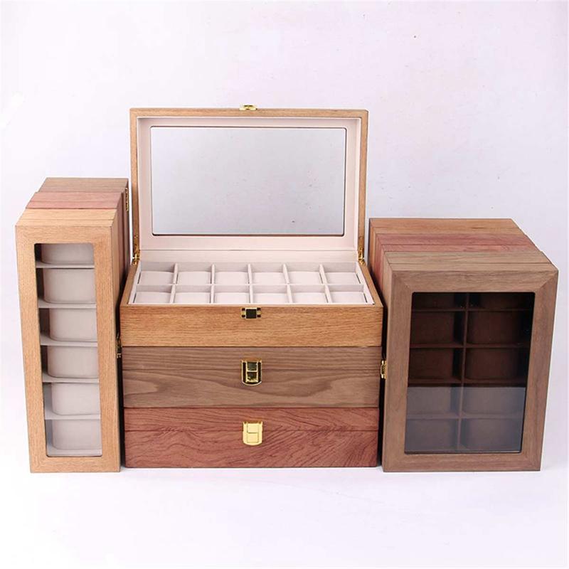 ReTro-Montre-en-Bois-Vitrine-D-039-Emballage-Durable-Titulaire-Collection-de-Bi-B4O6 miniature 8