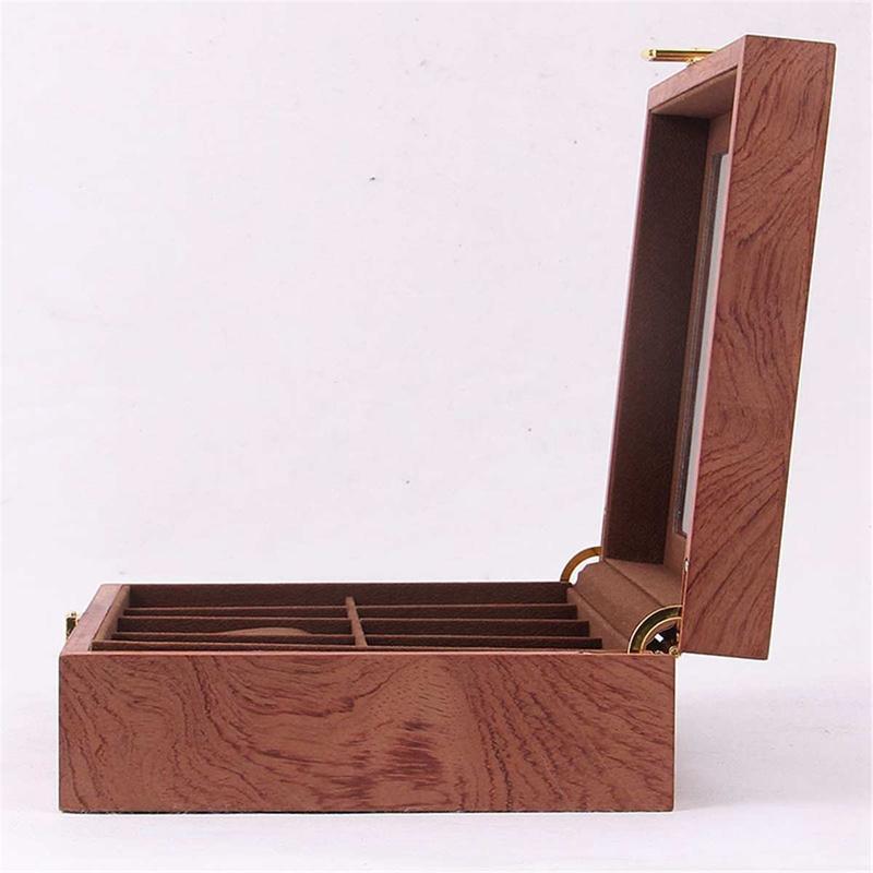 ReTro-Montre-en-Bois-Vitrine-D-039-Emballage-Durable-Titulaire-Collection-de-Bi-B4O6 miniature 9