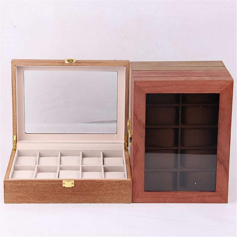 ReTro-Montre-en-Bois-Vitrine-D-039-Emballage-Durable-Titulaire-Collection-de-Bi-B4O6 miniature 10