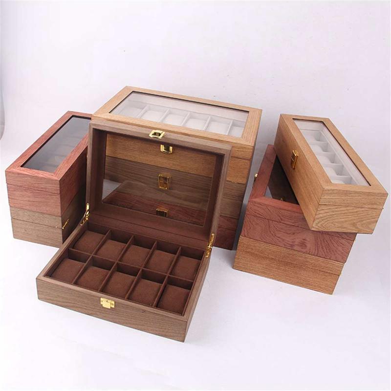 ReTro-Montre-en-Bois-Vitrine-D-039-Emballage-Durable-Titulaire-Collection-de-Bi-B4O6 miniature 11