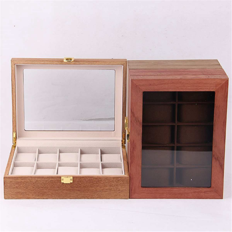 ReTro-Montre-en-Bois-Vitrine-D-039-Emballage-Durable-Titulaire-Collection-de-Bi-B4O6 miniature 20