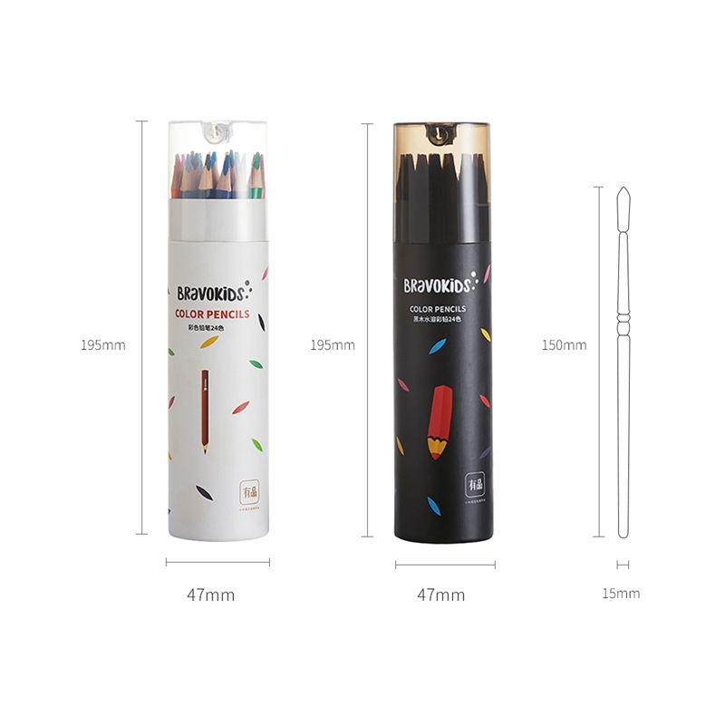 24Colors-Set-Xiaomiyoupin-Colorful-Pencil-Water-Soluble-24-Color-Suitable-f-D5Y6 thumbnail 3
