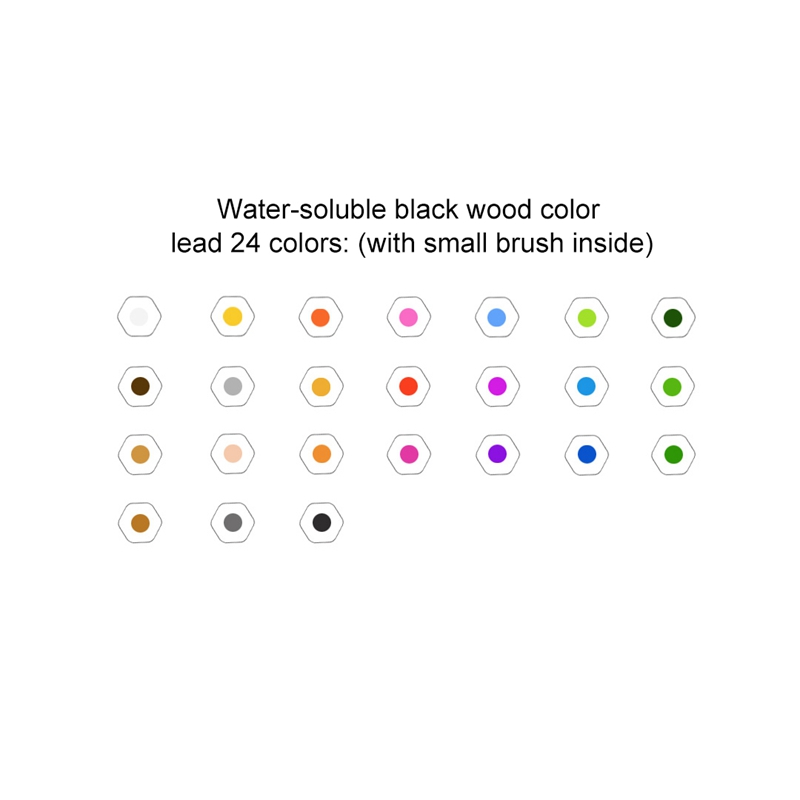 24Colors-Set-Xiaomiyoupin-Colorful-Pencil-Water-Soluble-24-Color-Suitable-f-D5Y6 thumbnail 4