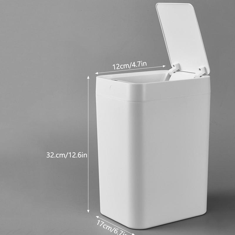 8L-Capteur-Intelligent-Poubelle-Accueil-eTanche-Poubelle-Automatique-Accus-R6O9 miniature 2
