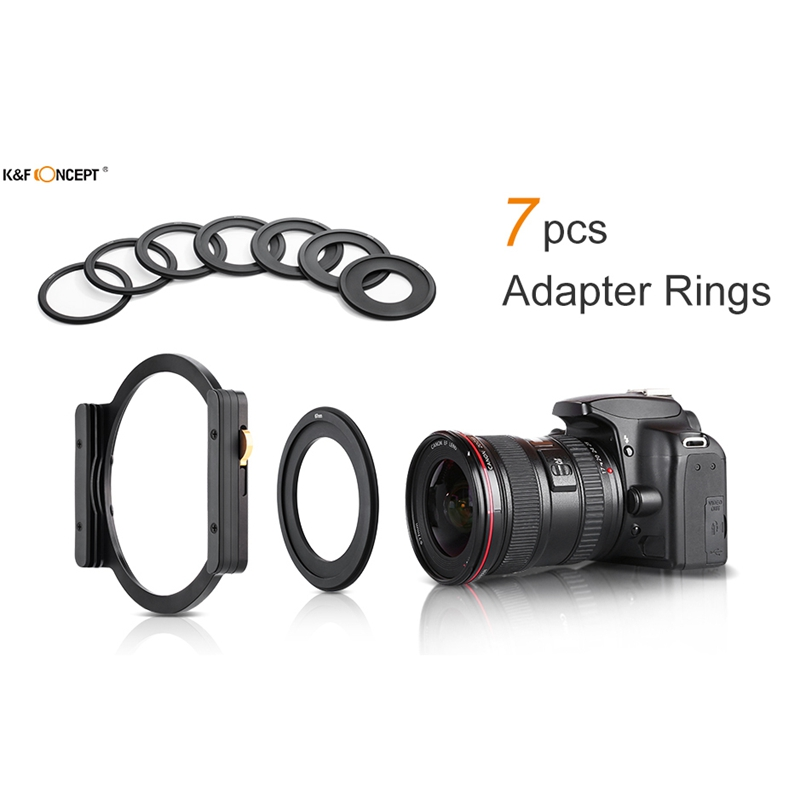 K-amp-F-Concept-Square-Filter-Holder-with-7Pcs-Filter-Ring-Adapters-Compatible-V3Q4 thumbnail 7