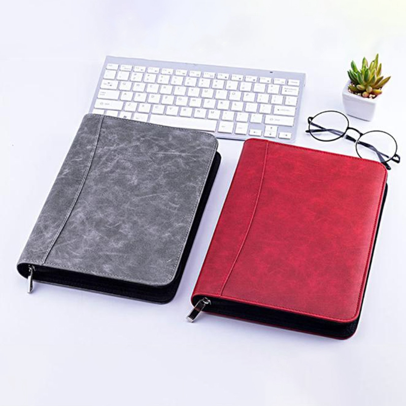 A5-Padfolio-con-Calculadora-Carpeta-de-Cremallera-Cuaderno-Cuaderno-Archivo-Carp miniatura 5