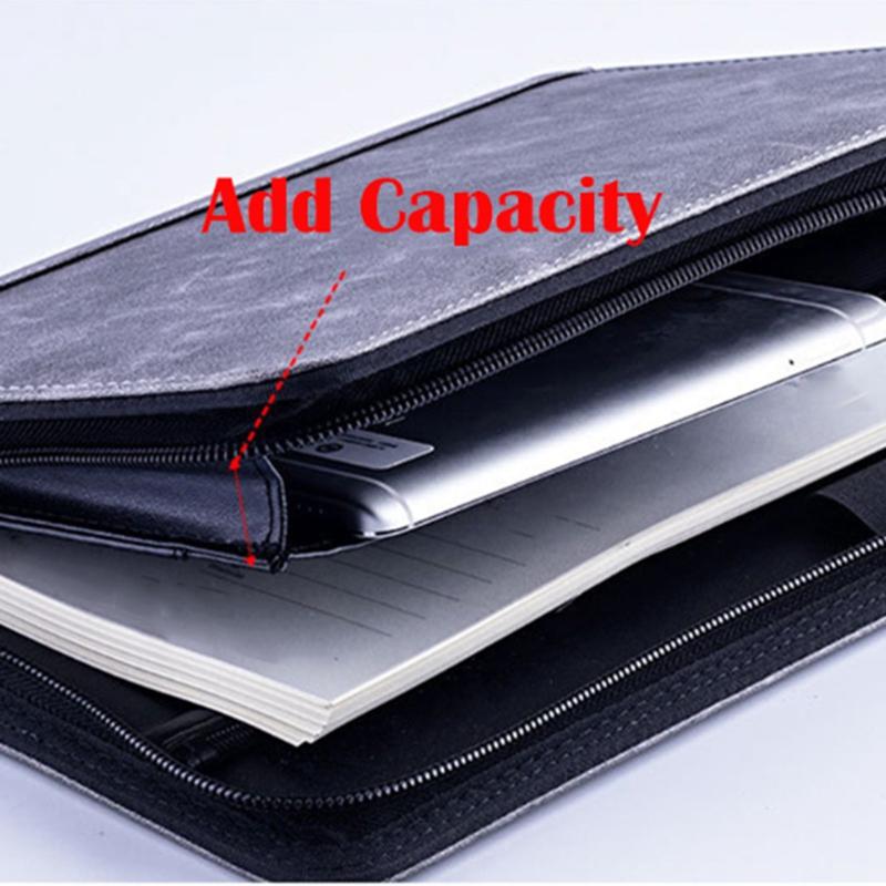 A5-Padfolio-con-Calculadora-Carpeta-de-Cremallera-Cuaderno-Cuaderno-Archivo-Carp miniatura 8