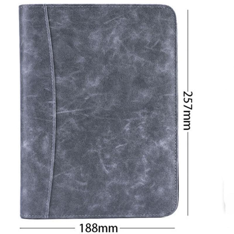 A5-Padfolio-con-Calculadora-Carpeta-de-Cremallera-Cuaderno-Cuaderno-Archivo-Carp miniatura 11