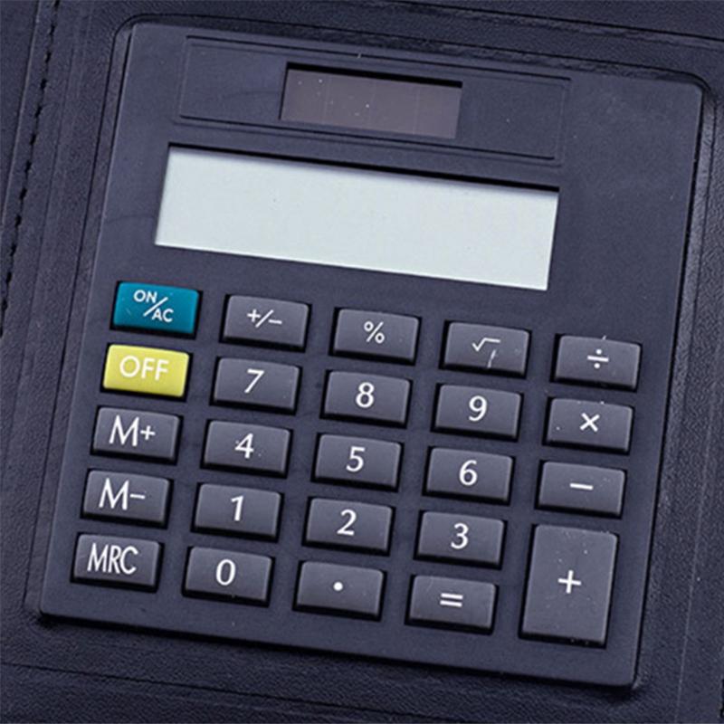 A5-Padfolio-con-Calculadora-Carpeta-de-Cremallera-Cuaderno-Cuaderno-Archivo-Carp miniatura 14