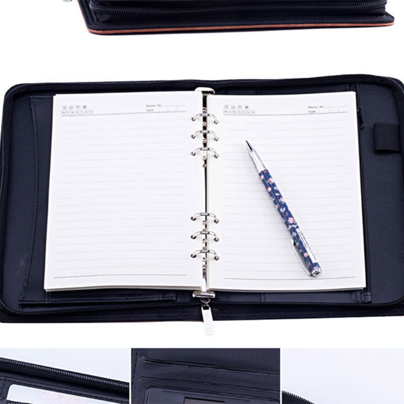 A5-Padfolio-con-Calculadora-Carpeta-de-Cremallera-Cuaderno-Cuaderno-Archivo-Carp miniatura 20