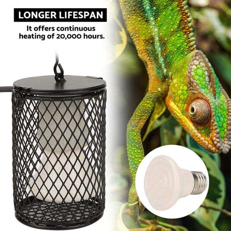 Heater-Guard-US-Plug-Reptile-Heating-Lamp-Shade-Pet-Reptiles-Products-Rept-L8P8 thumbnail 5