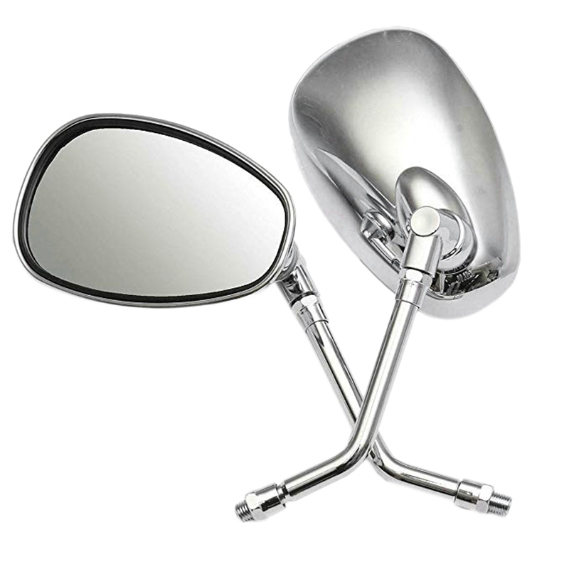 Spirit 1100 Motorcycle Parts CHROME MOTORCYCLE REAR VIEW MIRRORS For Honda Shadow Spirit 750