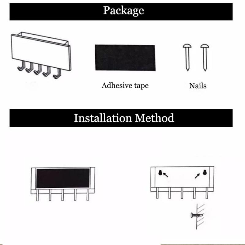 1X-Key-Hanger-Decorative-Simple-Small-Wall-Hook-Space-Saving-Easy-Install-HU4H3 thumbnail 15