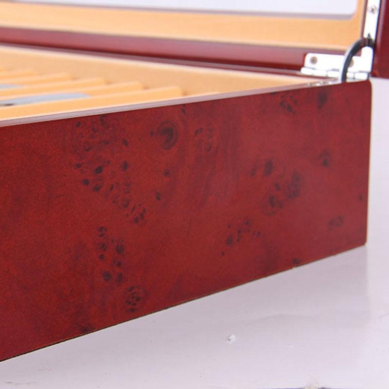 Feder-Brunnen-Holz-Vitrinen-Halter-Holz-Feder-Aufbewahrung-Box-Sammler-Orga-N9C1 Indexbild 7