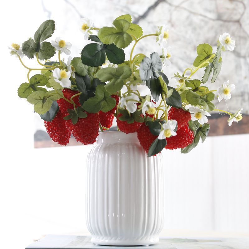 thumbnail 3 - 1X-6-Pcs-Acrylic-Strawberry-Artificial-Fruit-Flowers-for-Party-Home-Garden-X3O6