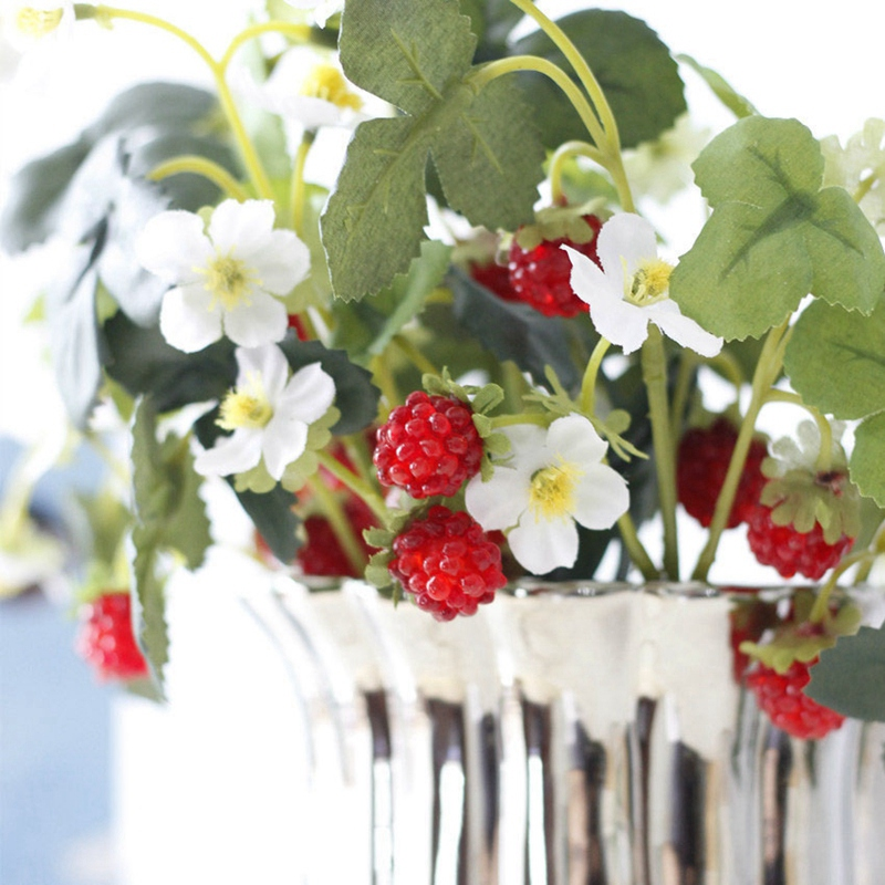 thumbnail 6 - 1X-6-Pcs-Acrylic-Strawberry-Artificial-Fruit-Flowers-for-Party-Home-Garden-X3O6