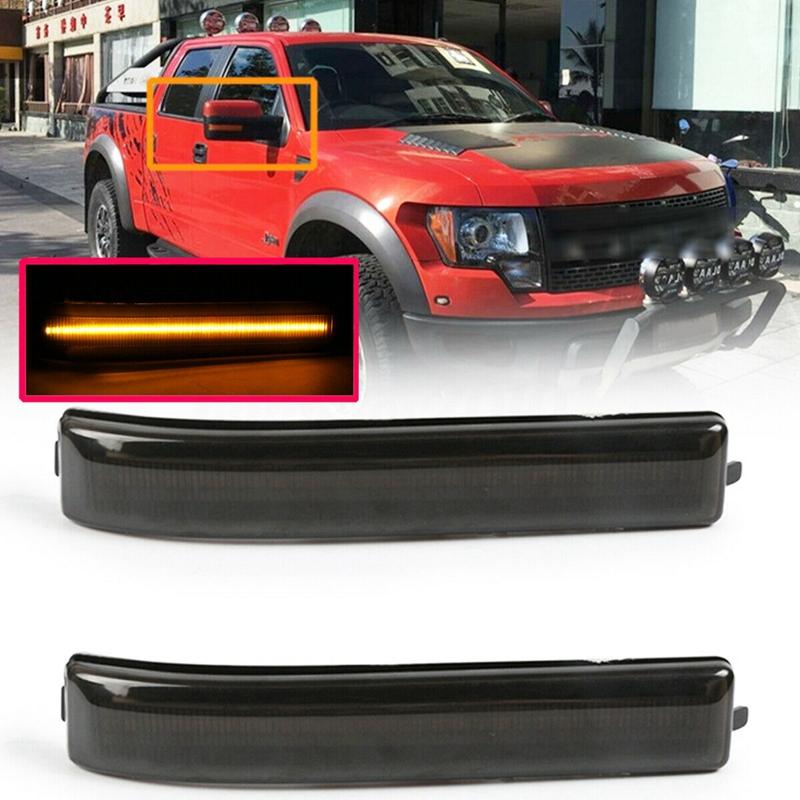 10X(2Pcs Smoke LED Under Side Door Mirror Turn Signal Lights